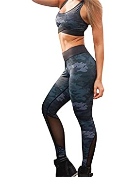 Uskincare Mujer 2PC Conjuntos Sujetadores Pantalones Leggings Ropa deportiva Fitness