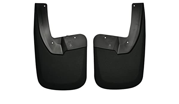Husky Liners Custom Fit Molded Thermoplastic Rear Mudguard for Select Dodge Models Black Pack of 2