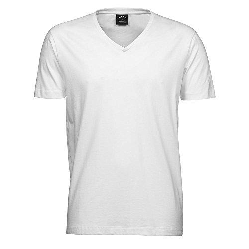 Tee Jays - Herren V-Shirt 'Fashion Soft-Tee' / White, M (Tee V-neck Soft)