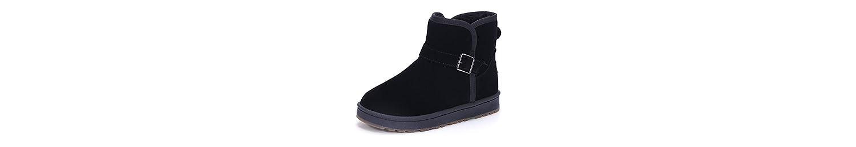 KHSKX-Botas De Nieve De Corea Del Sur Otoño Invierno Nieve Botas Zapatos De Mujer Tubo Corto Botas Cortas Además... -