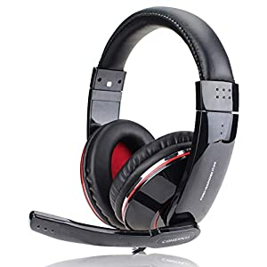 KARTELEI Gaming-Kopfhörer Noise-Cancelling-Mikrofon-Surround-Stereo-Sound 3,5 mm Kabel-Headset für PC, Xbox One, PS4, Nnintedo Switch-Black