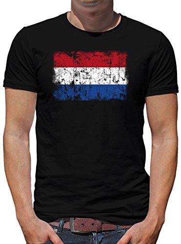 Touchlines Merchandise Niederlande Holland Vintage Flagge Fahne T-Shirt Herren XXL Schwarz