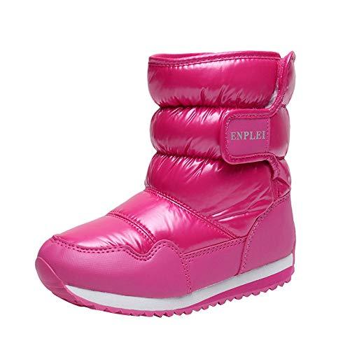 Dehots Kinder Schneestiefel Winterstiefel Stiefel Puff Boot Warm Gefütterte Wasserdicht Mädchen Jungen Kleinkind Baby Schuhe Winter