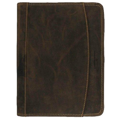 GREENBURRY Vintage Manager Schreibmappe echt Leder A4 braun …, Braun, 33 x 27 x 3 cm