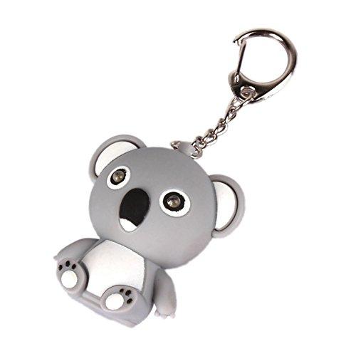 Shangwelluk Llavero Coche Llavero Sonido Koala LED