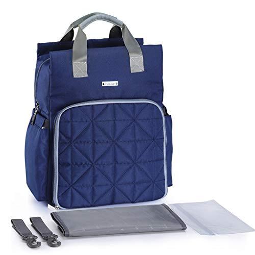 lailongp Mutterschaft Windel Wickeltasche, große Kapazität Baby Mummy Handtasche, Reiserucksack für Babypflege - tief blau