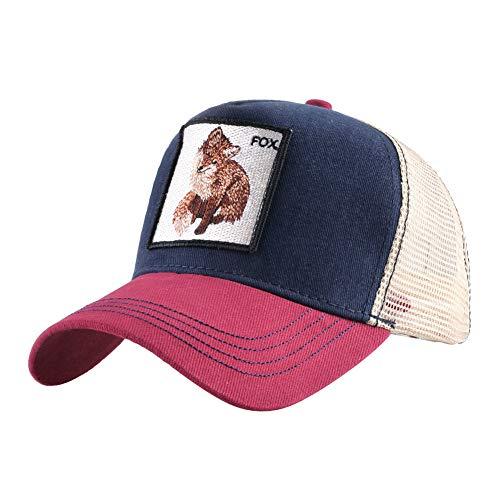 Kostüm Revolverheld Frauen - KFEK Patch Tier Stickerei Baumwolle Baseball Cap Männer und Frauen Sommer Sonnencreme Schirmmütze B4 einstellbar