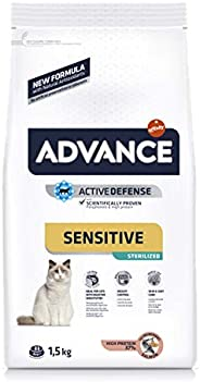 ADVANCE Sensitive Sterilized - Pienso para Gatos Esterilizados con Salmón - 1,5Kg