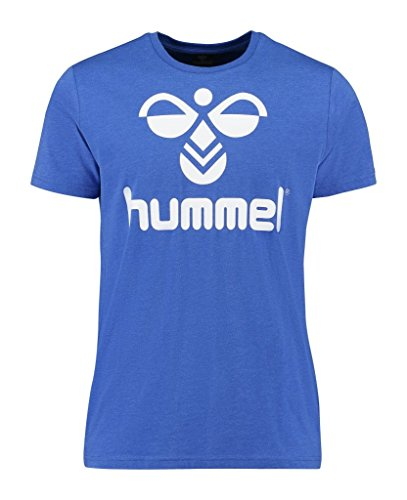 Hummel Herren T-Shirt Classic Bee Lucas Short Sleeve Tee, Dazzling Blue Melange, M, 09-899-8609