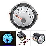 ZHUOYUE 2Inch 52 millimetri 12V Blu LED 50-150 Gradi Celsius Auto Olio Temperatura Contatore Olio Indicatore Temp con Sensore per Auto Barca Camion ATV