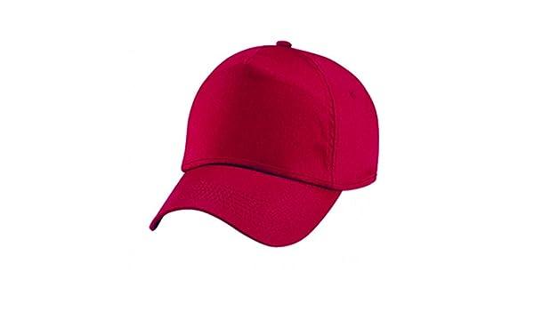 Cappello Rosso Uomo Donna Cappelli Rossi con Visiera Curva Golf Baseball  Berretto  Amazon.it  Scarpe e borse de39af5a3190