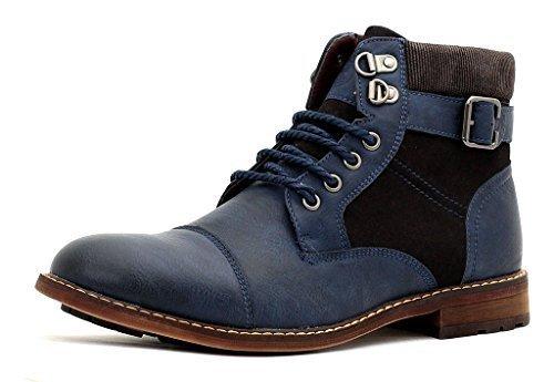 mens-ankle-casual-chelsea-biker-zip-buckle-lace-up-boots-shoe-size-6-7-8-9-10-11-uk-11-eu-45-navy