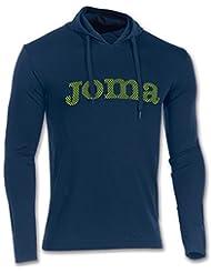 Joma Brama Cross M/L Sudadera con capucha, Hombre, Azul Marino (317), M