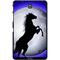 Custodia per Samsung Galaxy Tab 4 (7 inch) - Cavallo Selvaggio Sulla Luna Blu by BluedarkArt