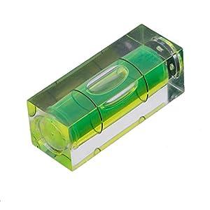 Mini herramienta de medición duradera para colgar cuadros de nivel de burbujas, 3,8 x 1,4 x 1,4 cm