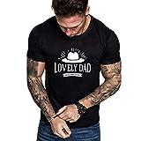 TEBAISE T-Shirt Herren Geschenke für Papa Rundhals Schwarz T-Shirt Vater und Tochter oder Vater und Sohn Papa Partner Sweatshirt 2019 Shirts Tops Tasse Becher Kaffeetasse