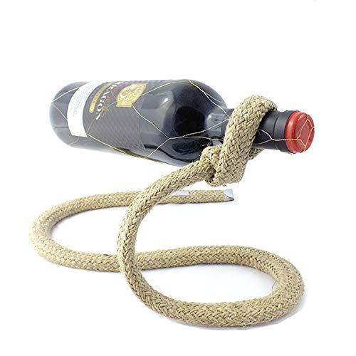 A.W.Niemeyer Flaschenhalter Tauwerk - Dekorativer Seil-Weinständer als Geschenk für Segler und...