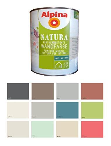 Alpina 2,5 L Natura Wandfarbe Silikat Mineralfarbe Hagebutte, Terracotta Matt