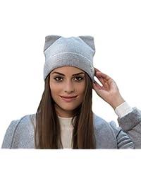 Darcylibisy Sombrero de Lana con Lindas Orejas de Gato 9e82ba355b2