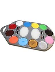 Goodmark Aqua Make-Up Set 12 Farben, 1er Pack (1 x 17 Stück)