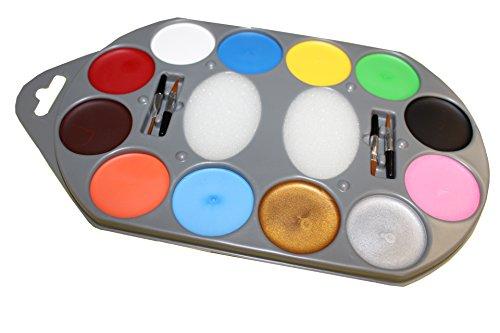 Set 12 Farben, 1er Pack (1 x 17 Stück) (Halloween-make-ups)