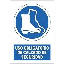 S21 Señalización SOR1055.G - Señal uso obligatorio de calzado de seguridad multicolor