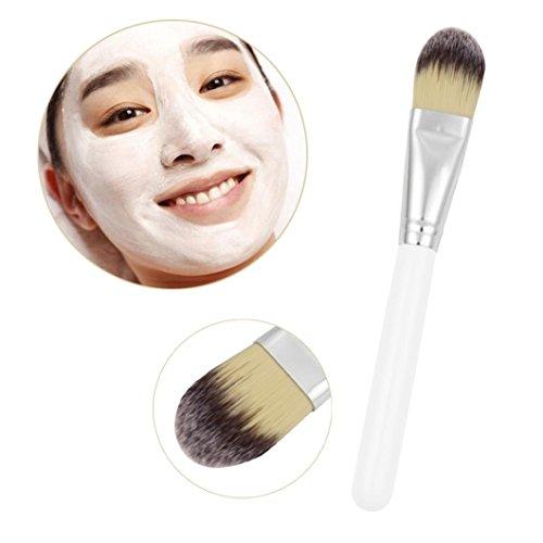 Igemy Poignée en bois Soin du visage Masque de boue mixage Brosse Cosmétique kit de maquillage
