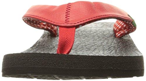 Sanuk Yoga Mat 29418063 Damen Zehentrenner Bright Red