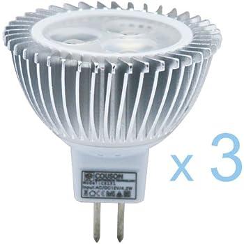 3 x Bombilla LED MR16 3W Foco Luz Blanco Cálido AC 12V