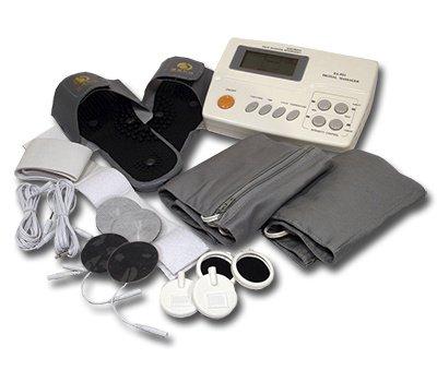 Digitales Reizstromgerät & Magnetfeldtherapie EA-F21 - 4 Therapien in einem Gerät - inkl. Massage-Slipper, vielen Elektroden, Thermo-Therapiegurten und weiterem umfangreichen Zubehör