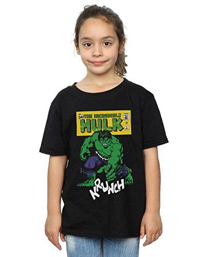 Marvel niñas Hulk Krunch Camiseta 7-8 Years Negro