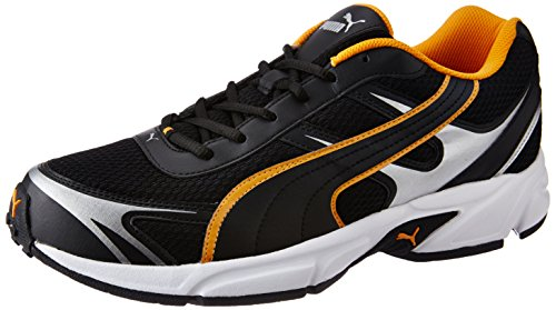 Puma Men's Carlos Ind Puma Black, Zinnia and Puma Silver Running Shoes - 11 UK/India (46 EU)