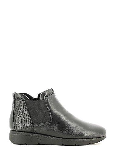 GRUNLAND BENE PO0863 nero scarpe donna mid beatles zeppetta zip elastico 38