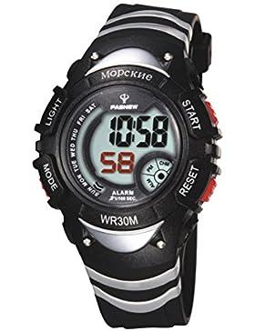 Electronic watch outdoor sport running kinder wasserdicht-F