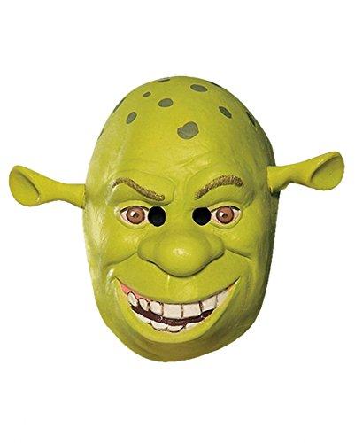 Lustige Shrek Maske für Kinder als Lizenzartikel für Fasching und Halloween aus Vinyl - 3/4 Maske