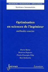 Optimisation en sciences de l'ingénieur : Méthodes exactes