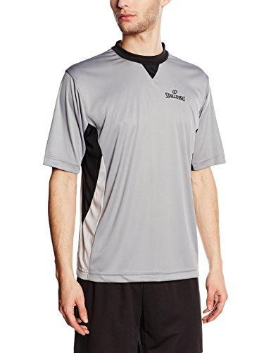 Spalding Herren Schiedsrichtershirt T-Shirt, grau/Schwarz/Silbergrau, S