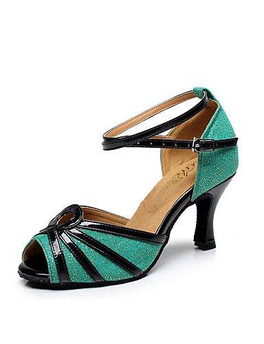 La mode moderne Sandales Chaussures de danse pour femmes personnalisables Glitter Paillettes mousseux mousseux Sandales Stiletto/HeelPractice Latin Débutant/Perfectionnement professionnel / US8.5/EU39/UK6.5/CN40