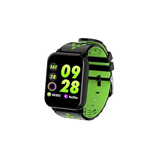 Mygsn Watch Fitness-Tracker, 1,3-Zoll-hochauflösender Farbbildschirm-Aktivitätsmonitor, Schlafüberwachungs-Pedometer-Armband, Bluetooth-Foto-Smart-Armband Watch (Farbe : Grün)