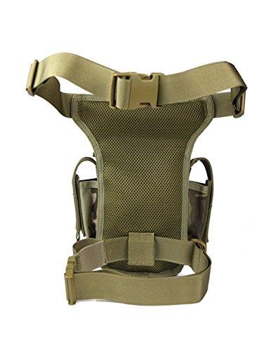 Free Soldier Mini und große Drop Bein Tasche stable-wearing Outdoor Taille und Bein Tasche - Muddy Color