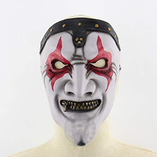 KYX-GAOMOUREN Halloween Reißverschluss Mund Maske Halloween Horror Unheimlich Spukhaus Layout Live-Maske