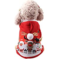 Keepwin Christmas Pattern Haustier Welpen Hooded Sweatshirts Schöne Hund Katze Kleidung Kostüm