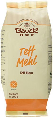 Bauckhof Teffmehl Vollkorn glutenfrei, 2er Pack (2 x 400 g) - Bio (Bio-vollkorn-mehl)