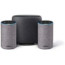 Echo Sub Combo with 2 Amazon Echo Devices - Grey