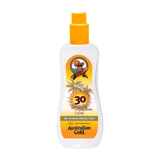 Australian Gold SPF 30 Plus Alta Protezione Water Resistant Spray Gel 237ml