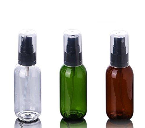 6 pcs Portable rechargeable fine Brume Plastique Make Up Spray bouteilles avec Noir fine Brume Sparyer et Housse de protection pour parfum Cosmétique Vaporisateur Petit