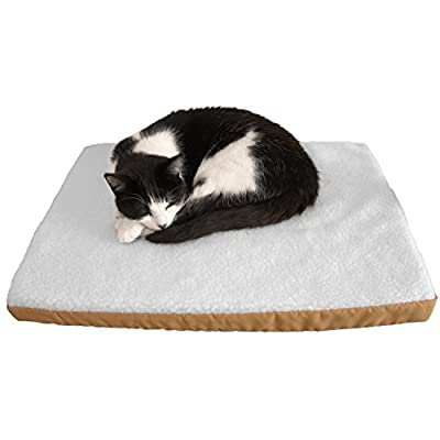 Art of Paws Electric Heated Pet Bed; Warm Wooly Heated Pet Mat; Superior Quality Electric Heated Cat Bed and Ideal Heated Dog Pad; 100% Money Back Satisfaction Guaranteed!