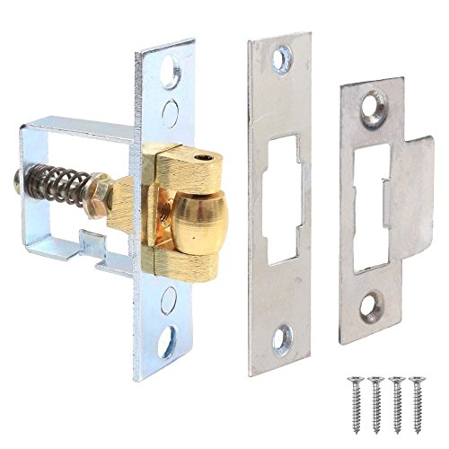 Adjustable Roller Catch (Heavy Duty Adjustable Roller Door Catch Nickel Plated by Securit)