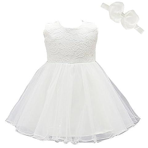 2pcs Baby Mädchen Kleid Taufe Besondere Gelegenheit Kleid