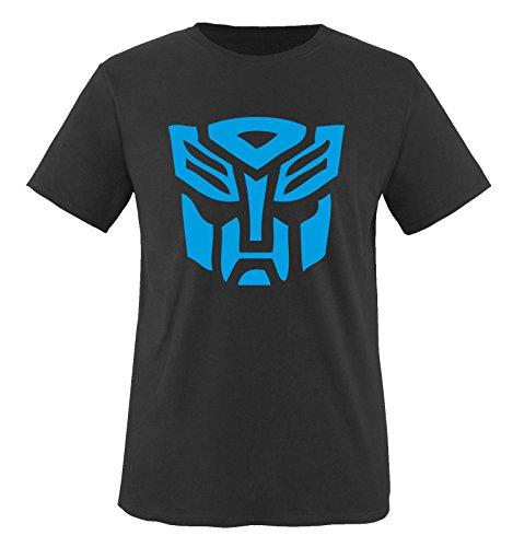 r T-Shirt Schwarz / Blau Gr. 122-128 (Transformers Kinder)